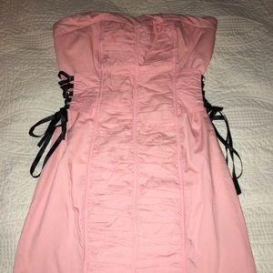 Bebe corset side dress. NWT so cute.Small